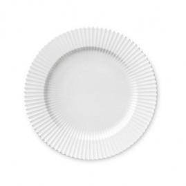 Lyngby Iconic Porcelain Stel - Middagstallerken 27 cm, klar hvid