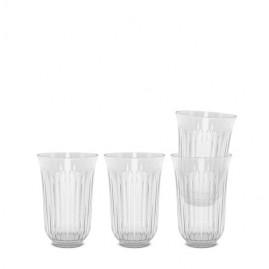 Lyngby Iconic Porcelain - Drikkeglas 42 cl. 4-pak. klart glas.