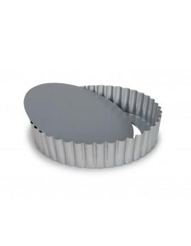 Patisse - Silvertop Tærteform m. løs bund, 20x4 cm.