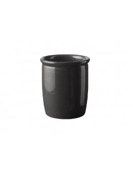 Knapstrup Keramik - Syltekrukke 1,0 ltr. antracitgrå.