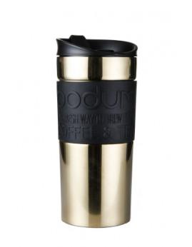 Bodum Travel Mug - Dobbeltvægget Rejsekrus 0,35 ltr. Guld.