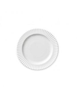 Lyngby Iconic Porcelain - Stel, frokosttallerken 20 cm, klar hvid.
