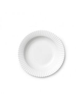 Lyngby Iconic Porcelain - Stel, dybtallerken 21 cm, klar hvid.