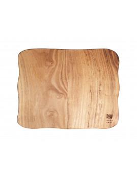 RAW - Skærebræt 40x30x2 cm, teaktræ