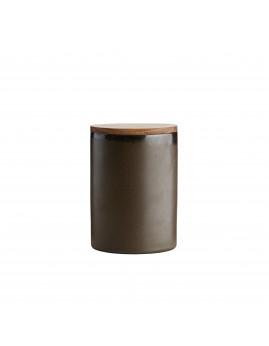 RAW Metallic Brown - Krukke m. teaklåg 15 x 10 cm