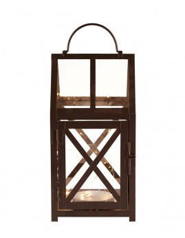 Villa Collection - Lanterne m. LED lys. 28x14,5x14,5 cm.