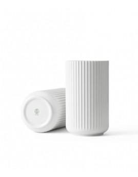 Lyngby Porcelæn - Vase 25 cm, hvid.