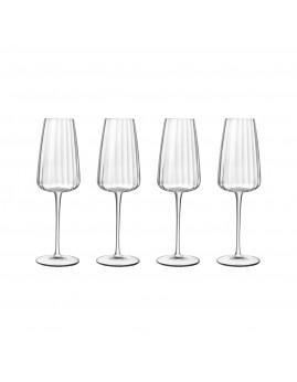 Luigi Bormioli Optica - Champagneglas 21 cl, 4 stk., Klar