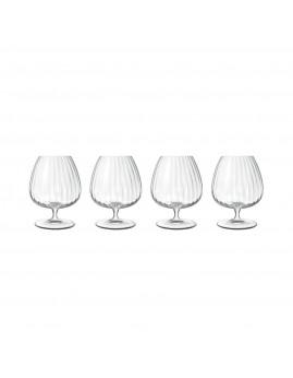 Luigi Bormioli Optica - Cognacglas 46,5 cl 4 stk., Klar