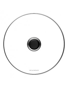 Scanpan Classic - Grydelåg i glas, 28 cm.