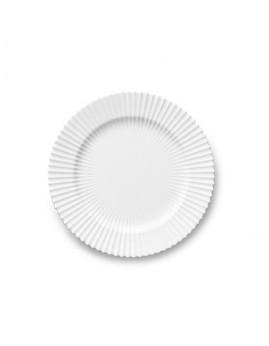 Lyngby Iconic Porcelain - Stel, Middagstallerken 23,5 cm, klar hvid.