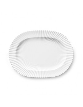 Lyngby Iconic Porcelain - Stel, Oval fad 29 cm, hvid
