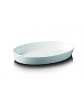 Aida Aroma de Luxe - Ovalt Fad 30 cm. Hvid.