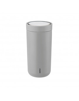 Stelton i:cons - To go click d. steel termokop - 0,4 l, Soft Light Grey