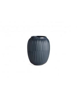Kähler Hammershøi - Vase Ø16,5 x H20 cm, antracitgrå