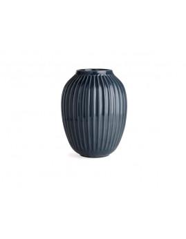Kähler Hammershøi - Vase Ø20 x H25 cm, antracitgrå