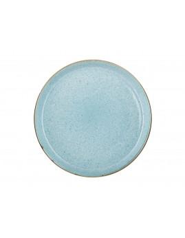 Bitz - Tallerken 27 cm, mat grå/blank lysblå.