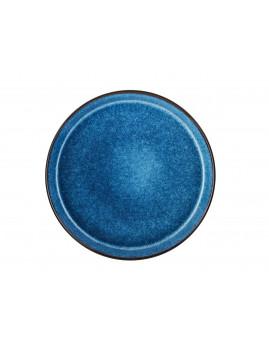Bitz - Tallerken 27 cm, mat sort/blank mørkeblå.