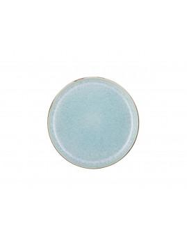 Bitz - Tallerken 21 cm, mat grå/blank lysblå