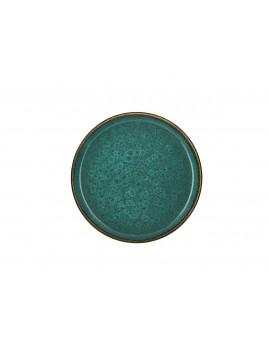 Bitz - Tallerken 21 cm, mat grøn/blank grøn