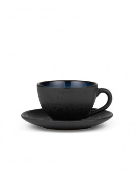 Bitz - Kop m. underkop sort/mørkeblå, 22 cl