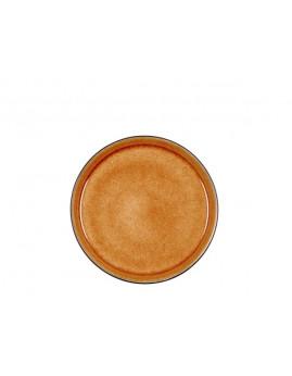 Bitz - Tallerken 21 cm, mat sort/blank amber