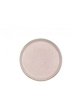 Bitz - Tallerken 21 cm, mat grå/blank lyserød