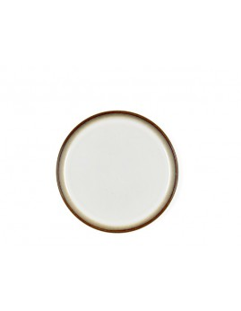 Bitz - Tallerken 21 cm, mat grå/blank creme