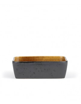 Bitz - Ovnfast fad rekt. 19x14 cm, sort/amber