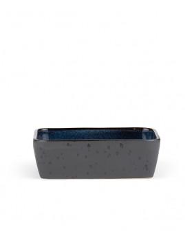 Bitz - Ovnfast fad rekt. 19x14 cm, sort/mørkeblå