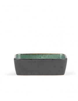 Bitz - Ovnfast fad rekt. 19x14 cm, sort/grøn