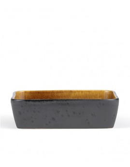 Bitz - Ovnfast fad rekt. 30x17 cm, sort/amber