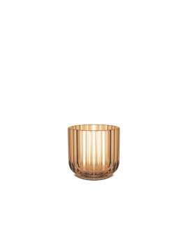 Lyngby Iconic Porcelain - Lysestage 6,5 cm. amber glas.