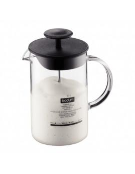 Bodum Latteo - Manuel Mælkeskummer m. glas håndtag 0,25 ltr, sort