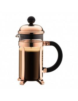 Bodum Chambord - Kaffebrygger 0,35 ltr (3 kop), kobber/sort knop.