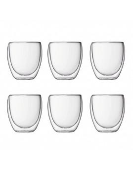 Bodum Pavina - 6 stk. dobbeltvægget glas 0,25 ltr.