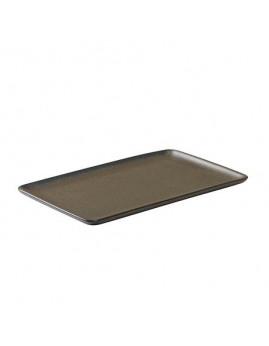 RAW Metallic Brown - Rekt. Tallerken 23,5 x15 cm
