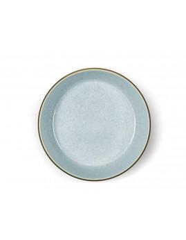 Bitz - Suppeskål 18 cm. mat grå/blank lysblå.