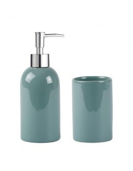 KJ Collection - Sæbedispenser & Tandkrus, Dust green.
