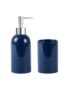 KJ Collection - Sæbedispenser & Tandkrus, Navy Blue.