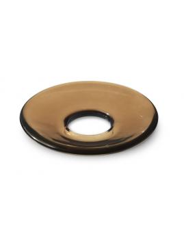 Holmegaard LUMI - Glasmanchet, flad, brun.