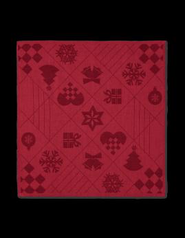 Rosendahl Natale - Stofserviet 45 x 45 cm. 4 stk. Rød