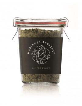 4 Pebersalt fra Mariager Saltcenter, 80 g.