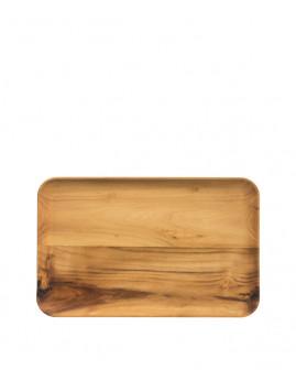 RAW - Rektangulær tallerken i teak. 31,7 x 20,2 x 1,8 cm.