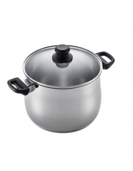 Scanpan Classic Steel - Suppegryde m. glaslåg, 7,0 ltr.