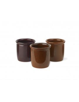 Knapstrup Keramik - Syltekrukke 3-pak. Ø8,5xH8,0 cm.