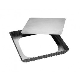 Patisse Silvertop - Kvadratisk Tærteform m. løs bund 21 cm