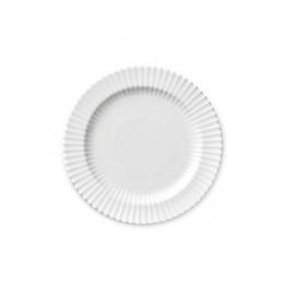Lyngby Iconic Porcelain - Stel, desserttallerken 20 cm, klar hvid.