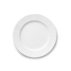 Lyngby Iconic Porcelain - Stel, Frokosttallerken 23,5 cm, klar hvid.