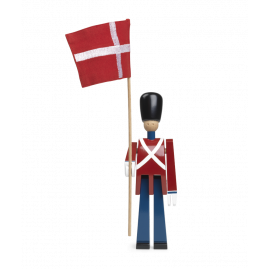 Kay Bojesen -  Fanebærer m. tekstilflag